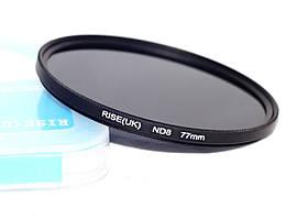 Нейтрально-серый светофильтр RISE (UK) 77 мм ND8