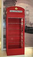 Витрина в стиле английской телефонной будки