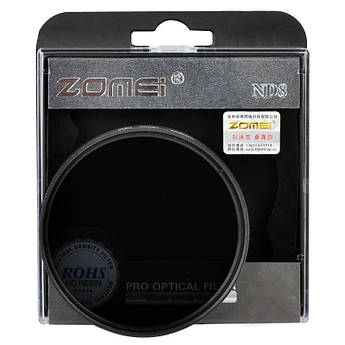 Нейтрально-серый светофильтр ZOMEI 67 мм ND8
