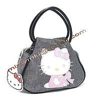 Сумка Hello Kitty black cat pack (20x15x10 длина ручки 10 см)