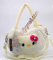 Сумка детская cat white (20Х25Х3 длина лямки 60 см (мин заказ)