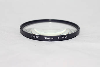 Светофильтр - макролинза CLOSE UP +4 77mm RISE (UK)