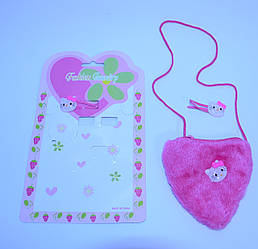 Детский набор для девочек (Сумочка и заколки)В упаковке 12 шт
