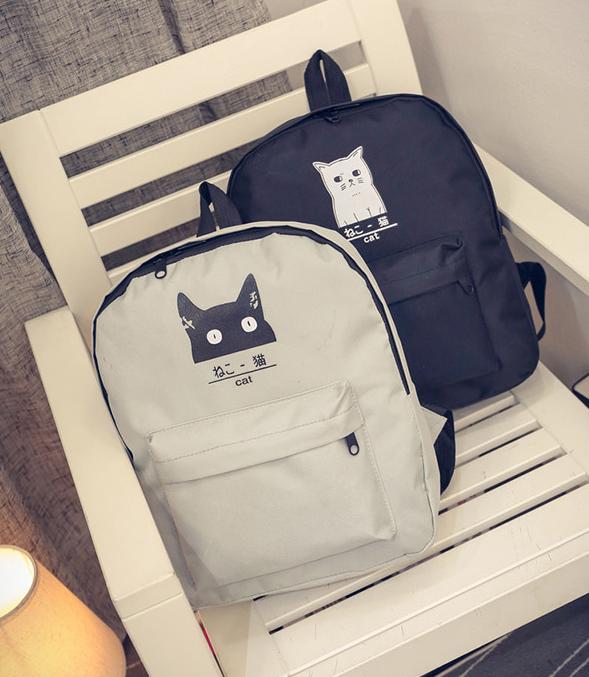 Милые Тканевые Рюкзаки с Котиком — в Категории