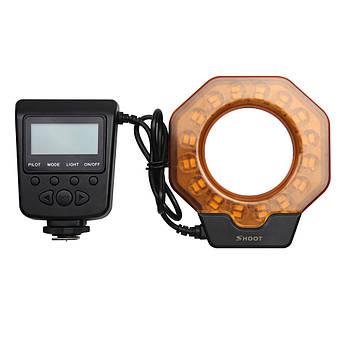 Кольцевая LED макровспышка Shoot SL-103C для камер Nikon