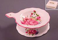 """Ситечко для заварки чая """"Розы"""" фарфоровое, розовое"""