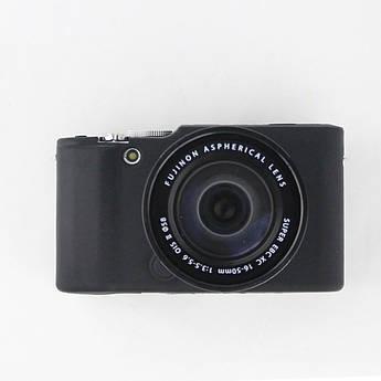 Защитный силиконовый чехол для фотоаппаратов FujiFilm XA2, XA1, XM1 - черный