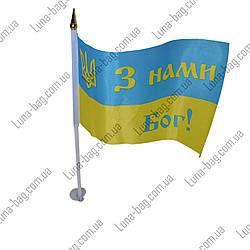 Флаг Украины 2 Рисунка (Размер 9х21 см) (Цена за упаковку/ В упаковке 12 шт)