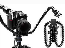 Гибкий держатель DMM-901 - для двух устройств на горячий башмак камеры