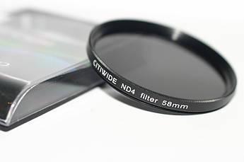Нейтрально-серый светофильтр CITIWIDE 62 мм ND4