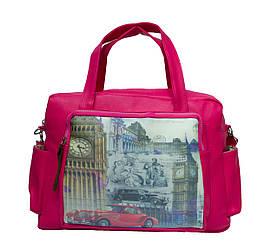 Сумка London  Lt print horizontal 3 Цвета Розовый