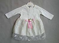 Нарядное платье для девочек 3-6 мес