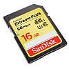 Карта памяти SanDisk Extreme Plus SD HC UHS-I 16 GB  (10 Class) 80 (mb/s)