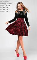 Платье Бланш Размеры: 44,46,48  Материал: Флок на трикотаже, велюр, сетка Растяжимость: средняя