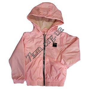 Детская ветровка на флисе6-10 лет розовая Оптом 050201-3