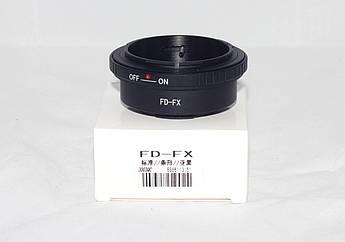 Адаптер (переходник) Canon FD - FX Fuji (FD-FX) для камер FujiFilm с байонетом FX