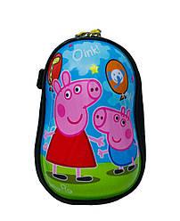 """Детская сумка с рисунком  """"Peppa"""" Цвет Голубой (Размер 21*13,5*9)"""