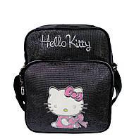 Детская сумка Hello Kitty 3 Цвета Черный (30x25x12 длина ручки)