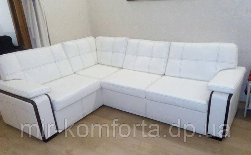 перетяжка углового дивана кожзамом цена 1 500 грн заказать в