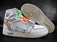 Кроссовки JORDAN AJ1 OFF-WHITE x Air Jordan 1 PART2 White