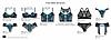 Комплект нижнего белья ТМ Kleo - Paradise delight: БЮСТГАЛЬТЕР ПУШ-АП 2119 и трусики 2125, фото 3