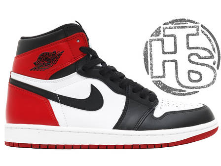 Мужские кроссовки Air Jordan 1 Retro High OG GS Black Toe White/Black/Varsity Red 575441-184, фото 2