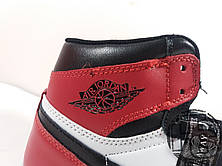 Мужские кроссовки Air Jordan 1 Retro High OG GS Black Toe White/Black/Varsity Red 575441-184, фото 3