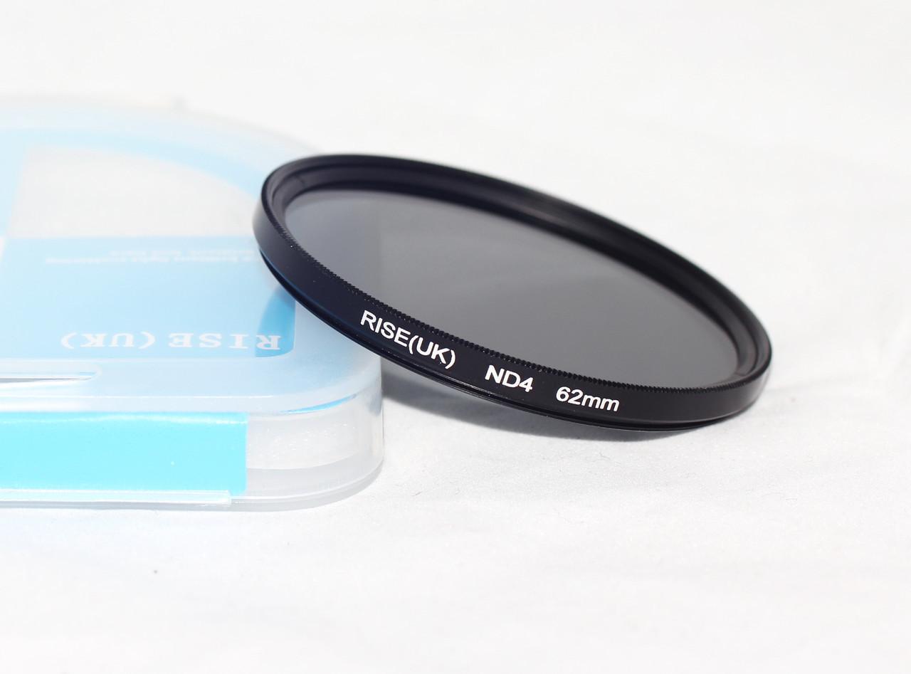 Нейтрально-серый светофильтр RISE (UK) 62 мм ND4