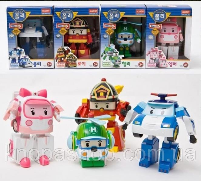 Robocar робокары. Набор из 4х героев. Эмбер, Хелли, Рой, Поли.