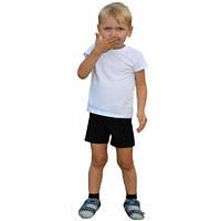 Шорты детские однотонные черные, хлопок