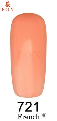 "Гель-лак FOX ""French"" №721 (Персик) 6 мл, фото 2"