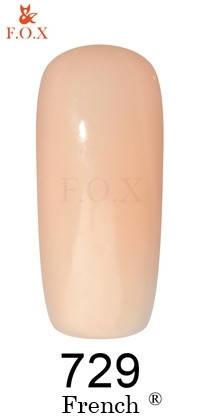 """Гель-лак FOX """"French"""" №729 (Персиковый полупрозрачный) 6 мл, фото 2"""