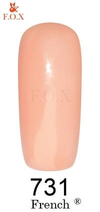 "Гель-лак FOX ""French"" №731 (Персиково-бежевый) 6 мл, фото 2"