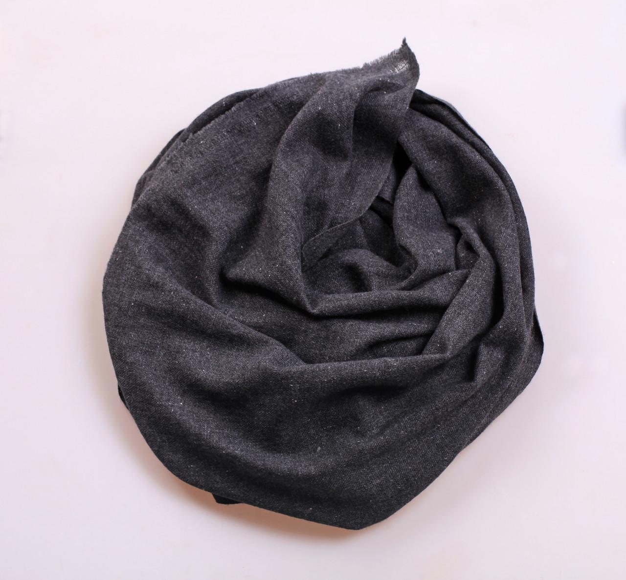 Кашемировый вуальный шарф Chadrin черный мужской