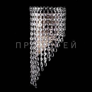Хрустальная бра на 2 лампочки (античная бронза). P5-B0133/2W/AB