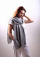 Кашемировый вуальный шарф Chadrin серый , фото 1