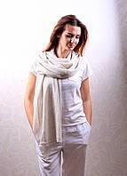 Кашемировый вуальный шарф Chadrin белый