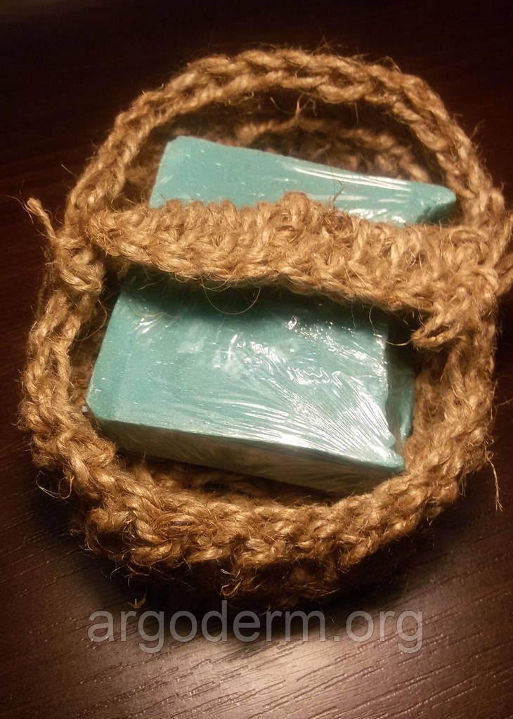 Мыльница-мочалка из натурального конопляного волокна для ванной