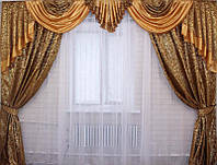 Ламбрекен и шторы фото комплект
