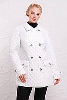Стёганная куртка на пуговицах модель 207,  6 расцветок ( 50-64) белый