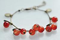 Хит продаж! Новинка! Стильный модный винтажный подарочный браслет Красная смородина, ювелирное изделие