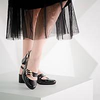 Туфли кожаные с открытой пяткой на среднем каблуке 4 см. Размер 36-41. Цвет любой. Кожа