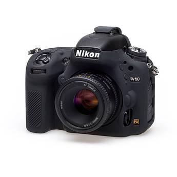 Защитный силиконовый чехол для фотоаппаратов Nikon D750  - черный