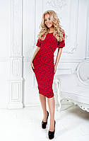 Платье  трикотаж кукуруза красное