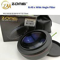 "Широкоугольная насадка - оптический конвертер, ""wide-angle"" - ZOMEI - 55 мм - 0.45x"