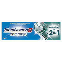 Зубная паста Blend-a-med Complete +Mundspulung weiss 2 in1 75 мл.