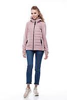 Комбинированная куртка-бомбер женская Фреш new т.пудра