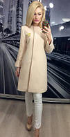Женское кашемировое пальто оптом 7км без воротника с запахом
