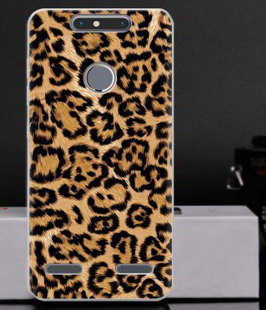 Чехол с картинкой бампер для ZTE Blade V8 mini Леопардовый принт