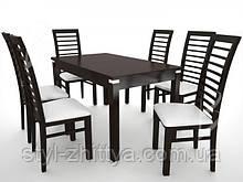Дерев'яна яні меблі: Стіл + 6 стільців. ОБЕРІТЬ СВІЙ КОЛІР!!!